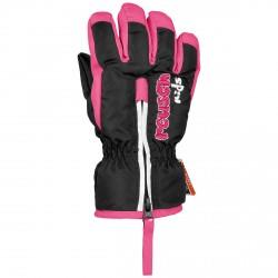 Guantes esquí Reusch Ben Baby negro-rosa