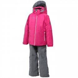 Ensemble ski Phenix Sunnyvale Fille rose-gris