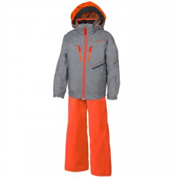 Ensemble ski Phenix Hardanger Garçon gris-orange