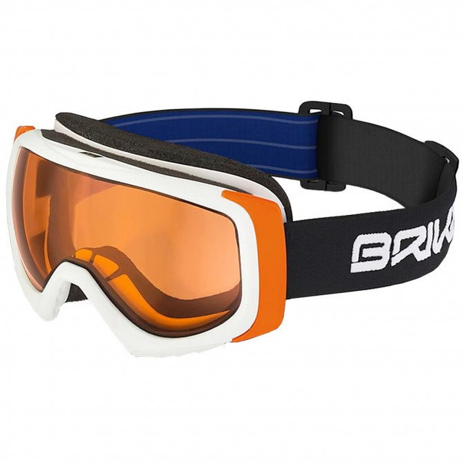Máscara esquí Briko Sniper P1 blanco-naranja