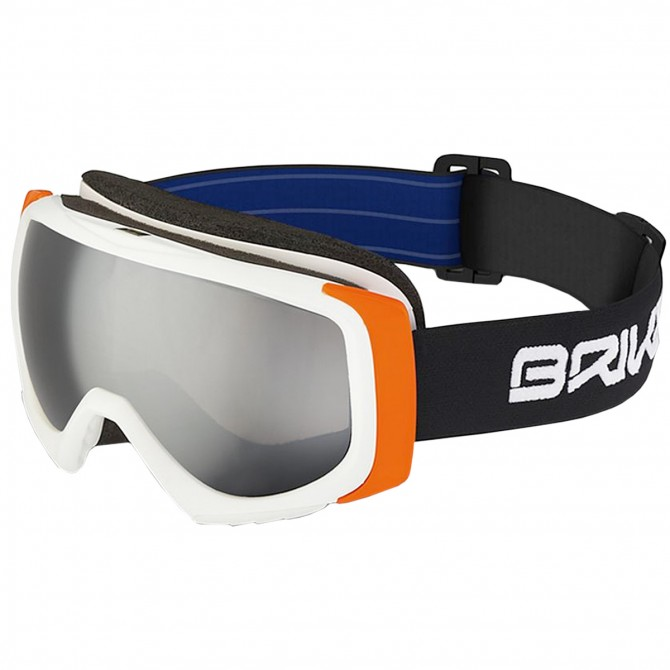 Masque ski Briko Sniper SM3 blanc-orange