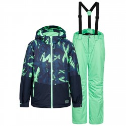 Ensemble ski Icepeak Hagan Garçon bleu-vert