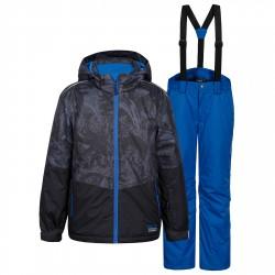 Ensemble ski Icepeak Hagan Garçon gris-bleu