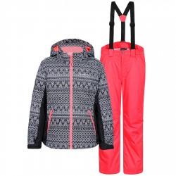 Ensemble ski Icepeak Hadia Fille gris-rose