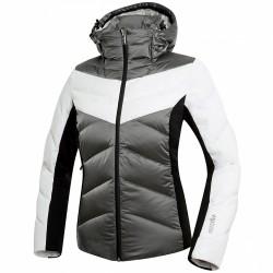 Chaqueta de pluma de esquí Zero Rh+ Sandra Bio Mujer gris