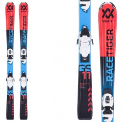 Ski Volkl Racetiger Jr vMotion + bindings vMotion 7.0 (80-90) red