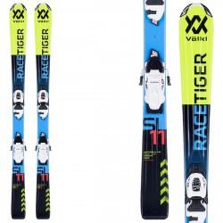 Esquí Volkl Racetiger Jr vMotion + fijaciones vMotion 4.5 (100-120) amarillo