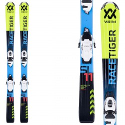 Ski Volkl Racetiger Jr vMotion + fixations vMotion 7.0 jaune