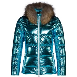 Ski jacket Rossignol Aiguille Woman turquoise