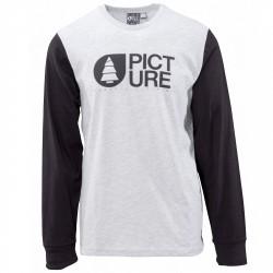 T-shirt Picture Lodge LS Homme gris