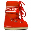 après ski Moon Boot Nylon rouge Baby