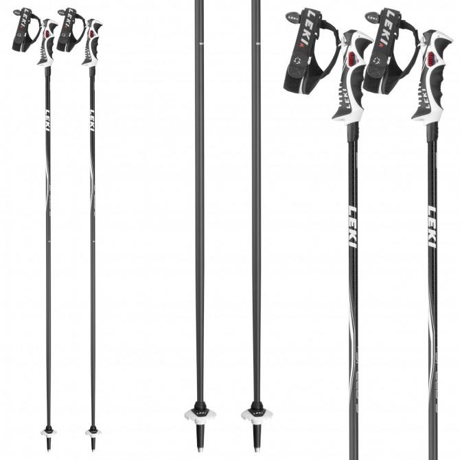 Ski poles Leki Speed S anthracite-black-green