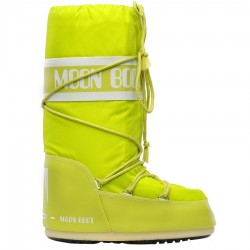 après ski Moon Boot Nylon citron vert Junior