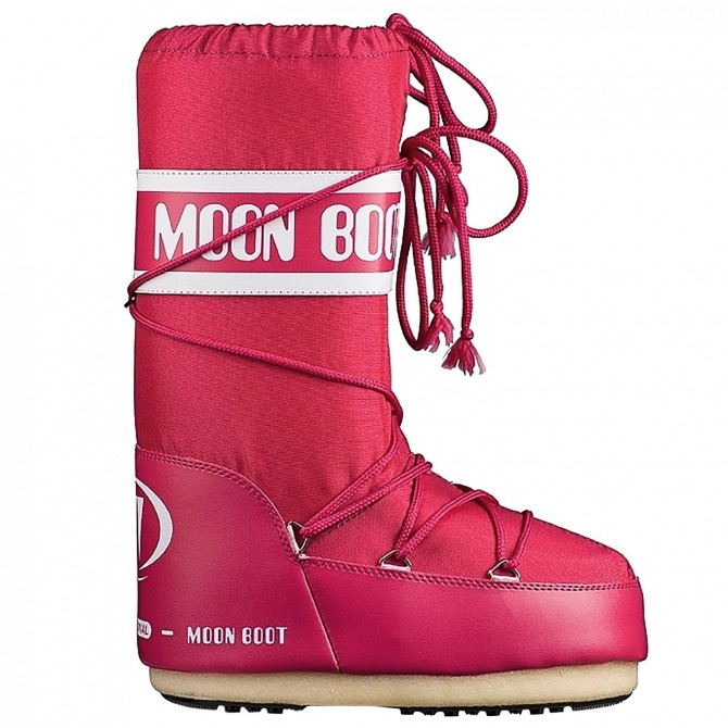 Après-ski Moon Boot Nylon Girl fuchsia