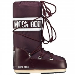 Après-ski Moon Boot Nylon Girl burgundy