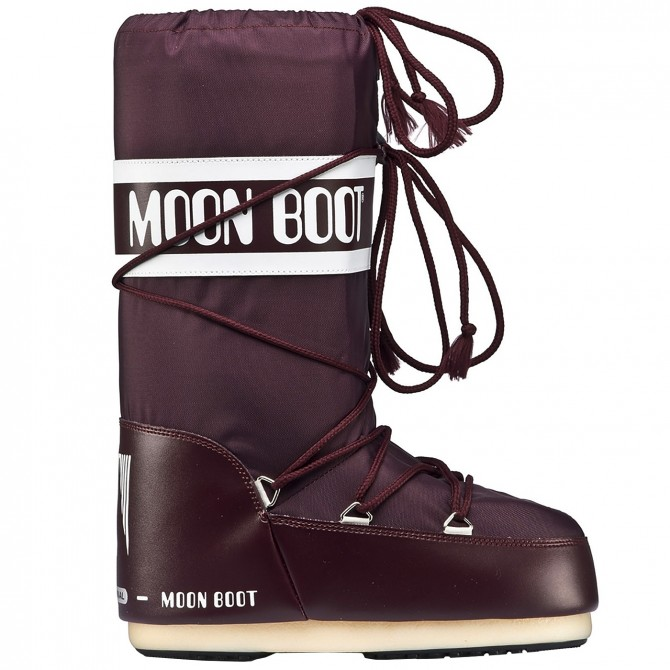 Après-ski Moon Boot Nylon Girl burdeos