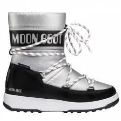 Après ski Moon Boot W.E. Sport Jr Wp Girl plata