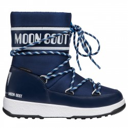 Après ski Moon Boot W.E. Sport Jr Wp Junior bleu-blanc