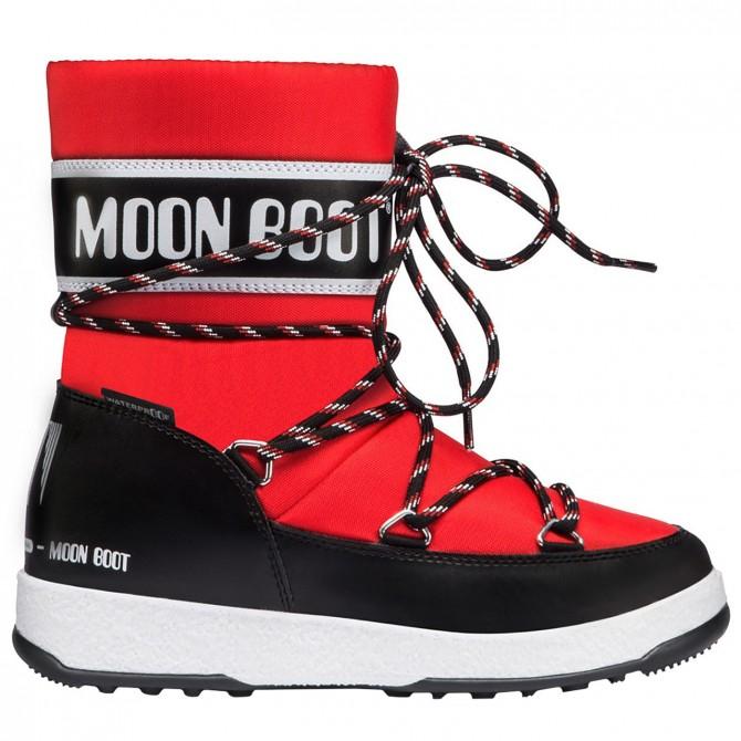 Après ski Moon Boot W.E. Sport Jr Wp Junior negro-rojo