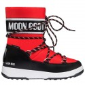 Après ski Moon Boot W.E. Sport Jr Wp Junior black-red