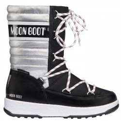 Après ski Moon Boot W.E. Quilted Jr Me Wp Girl argent