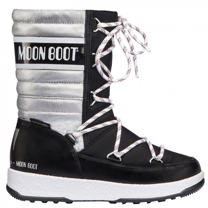 Après ski Moon Boot W.E. Quilted Jr Me Wp Girl silver