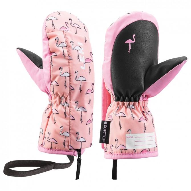 Mitaines ski Leki Flamingo Zap Baby rose