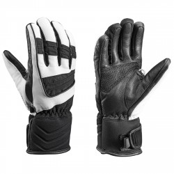 Ski gloves Leki Griffin S Woman black-white