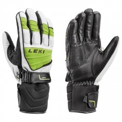 Ski gloves Leki Griffin S Man black-lime