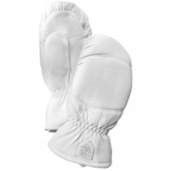 Ski mittens Hestra Leather Box white
