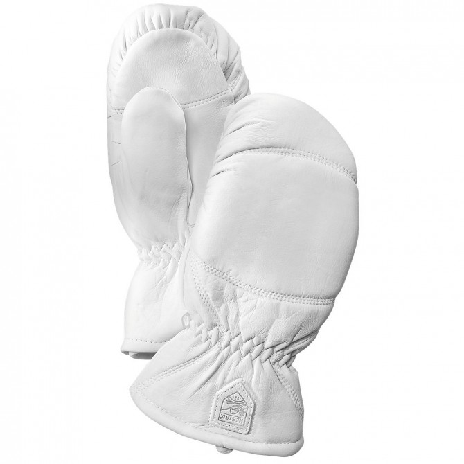 Mitaines ski Hestra Leather Box blanc