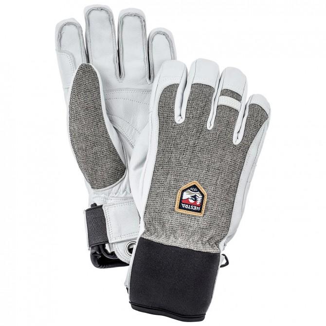 Ski gloves Hestra Army Leather Patrol grey