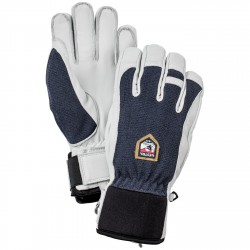 Gants ski Hestra Army Leather Patrol bleu