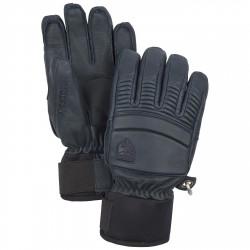 Ski gloves Hestra Leather Fall Line blue