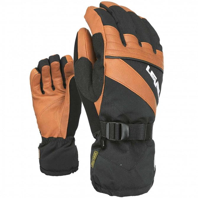 Ski gloves Level Patrol Man brown