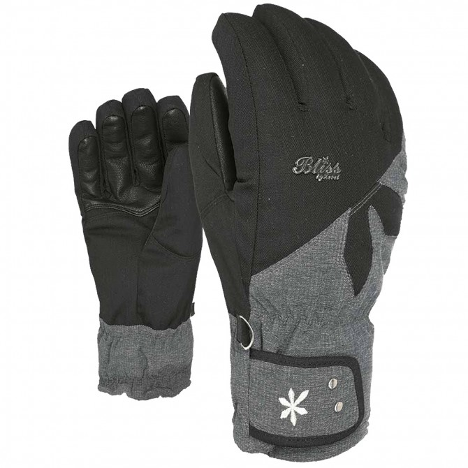 Ski gloves Level Bliss Sunshine Woman black-grey