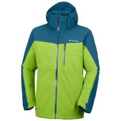 Veste ski Columbia Wild Card Homme bleu-vert