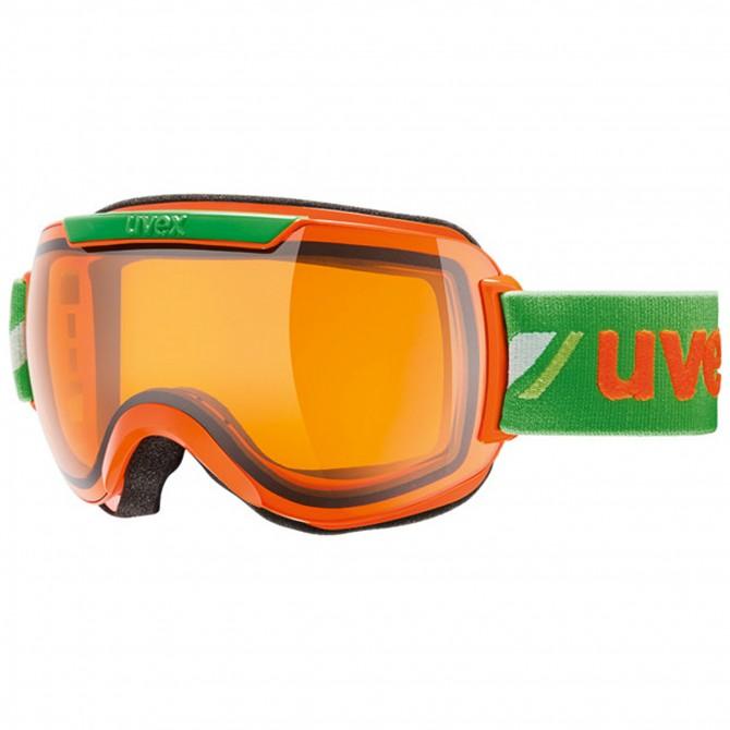 Maschera sci Uvex Downhill 2000 Race arancio-verde