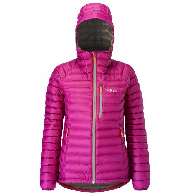 Mountaineering down jacket Rab Microlight Woman fuchsia