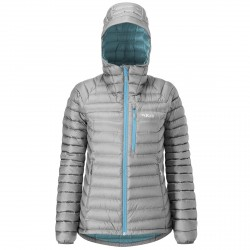 Mountaineering down jacket Rab Microlight Woman grey