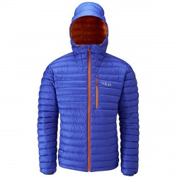 Chaqueta de pluma montañismo Rab Microlight Hombre azul