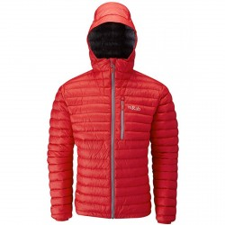 Mountaineering down jacket Rab Microlight Man red