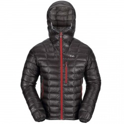 Mountaineering down jacket Rab Continuum Man grey
