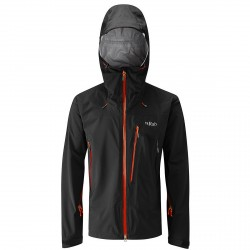 Mountaineering jacket Rab Firewall Man black