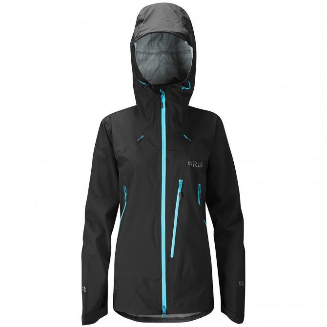 Mountaineering jacket Rab Firewall Woman black