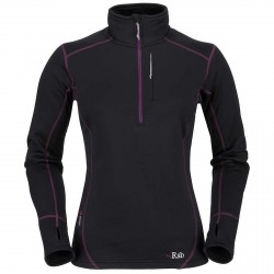 Maglia Rab Power Stretch Donna nero