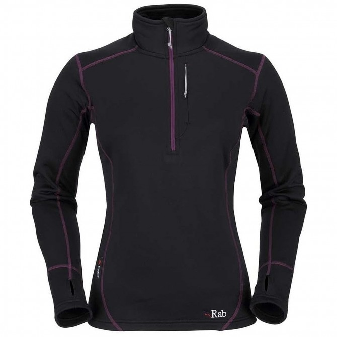 Suéter Rab Power Stretch Mujer negro