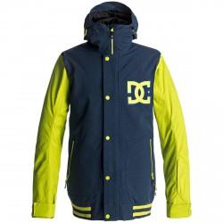 Snow jacket Dc DCLA Man blue-yellow