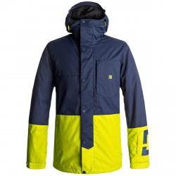 Veste snow Dc Defy Homme bleu-jaune