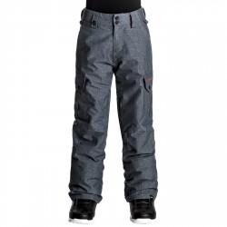 Pantalon snowboard Quiksilver Porter Garçon gris